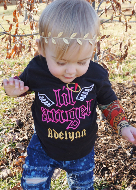 Lil Angel Tattoo sleeve shirt for girls