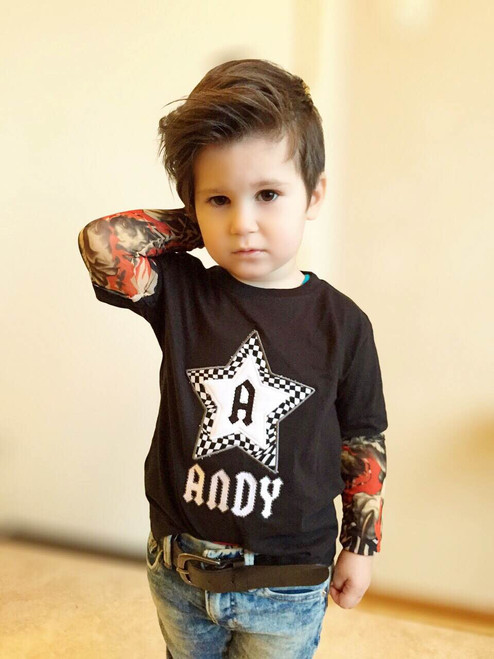 Personalized rock star tattoo shirt