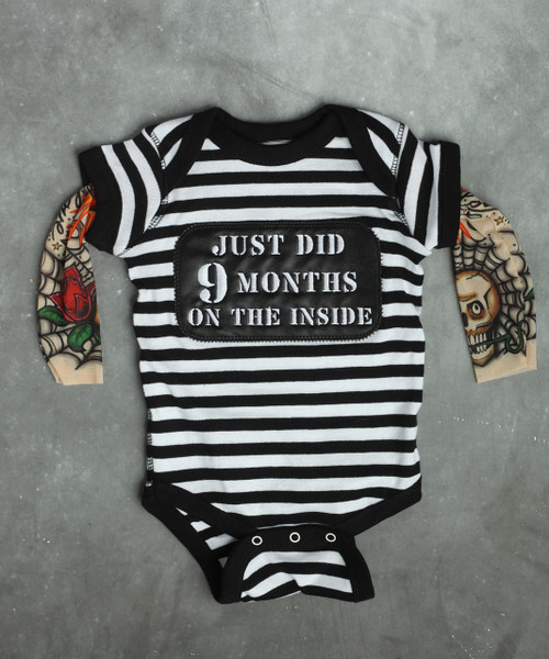 9 months on the inside baby shirt