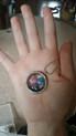 Dark Blue Dark pink and Dark Purple Puffy hearts 30 mm locket