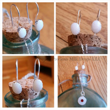 Breast Milk Earrings - Sterling Silver