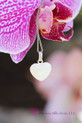 10mm Breast milk heart sterling silver backed  bright white