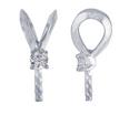 14-karat white gold pendant bail is set with one 3-pt. diamond