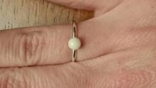 Breast Milk Stone Ring 4mm Round