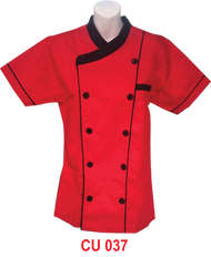 Red Jacket With Black Piping 2 Lines  (Young Cutting)