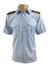 Ready Stock Pilot Shirt Blue (Shirt Only)