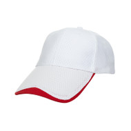 Ready Stock Base Ball Cap White / Red  CP 1300