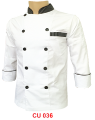 White Jacket with Stripe with Buttons(Young Cutting)