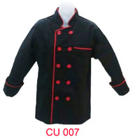 Black Jacket With Red Piping ( Normal Cutting )