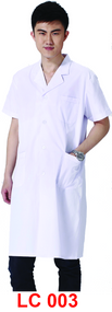 Male Lab Coat Short Sleeve