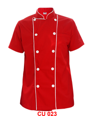 Red Jacket with White Piping ( Young Cutting )