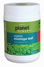 "planet organic - organic moringa leaf - 300g Powder  ""the miracle tree"""