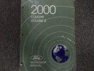 2000 MERCURY COUGAR Service Shop Repair Manual VOLUME 2 FACTORY OEM BOOK USED