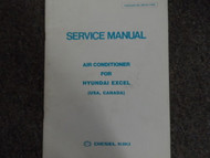 1985 Hyundai Excel Air Conditioner Service Manual FACTORY OEM BOOK 85