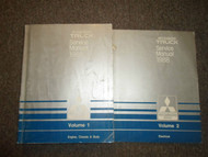 1988 MITSUBSIHI Truck Service Repair Shop Manual 2 VOLUME SET FACTORY OEM 88