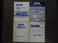 1980s Saab Fuel Injection Electrical Diagnosis Emissions Shop Manual 4 VOL SET
