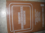 1983 Olds NINETY EIGHT & DELTA 88 Electrical Troubleshooting Service Manual OEM