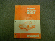 1989 Mazda B2600i B2200 Wiring Diagram Service Shop Manual OEM BOOK 89 FACTORY x