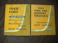 1966 Ford Falcon Club Wagon Econoline Shop Service Repair Manual Set FACTORY