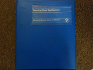 1980s 1990s BMW Operating Fluids Specifications Manual FACTORY OEM BOOK