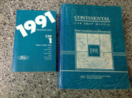1991 Lincoln Continental Service Shop Manual Set W SPECIFICATIONS BOOKLET WOW