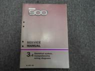 1987 1988 Saab 900 3:4 Electrical System; Comprehensive Wiring Diagram Manual 88