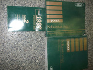 1993 FORD MUSTANG Service Shop Repair Manual Set OEM FACTORY DEALERSHIP 93 x