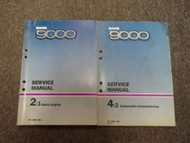 1986 87 1988 SAAB 9000 2:1 4:2 Basic Engine Auto Transmission Service Manual SET