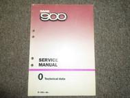 1981 83 86 1988 SAAB 900 0 Technical Data Service Repair Manual FACTORY OEM 88
