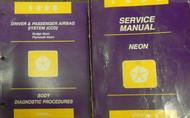 1996 DODGE PLYMOUTH NEON Service Repair Shop Manual SET W BODY DIAGNOSTIC BOOK