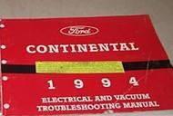 1994 LINCOLN CONTINENTAL Electrical Wiring EVTM Service Shop Manual EWD 94 EWD