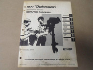 1971 Johnson Outboards Service Manual 2 HP 2R71 OEM Boat