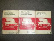 1979 80 81 82 83 1984 Saab 900 Body Auto Transmission Electrical Service Manual