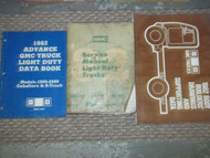 1982 82 GMC LIGHT DUTY TRUCKS Service Repair Shop Manual Set FACTORY BOOKS 82