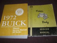 1972 BUICK ESTATE GS LESABRE RIVIERA SKYLARK Service Repair Shop Manual SET 2