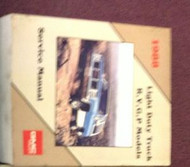 1988 GMC TRUCK RVGP R V G P RVG/P Service Shop Manual FACTORY OEM BOOK 1988