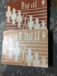 1988 Chevy RVGP R V G P TRUCK Service Shop Repair Manual SET W UNIT Book GM OEM