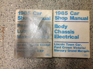 1985 FORD CROWN VICTORIA TOWN CAR GRAND MARQUIS Service Shop Manual SET W PT B