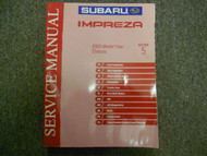 2003 Subaru Impreza Chassis Section 5 Service Manual WATER DAMAGE FACTORY OEM 03