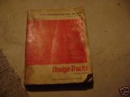 1966 Dodge Low Cab Forward Tilt 500-1000 Truck Service Shop Repair Manual OEM