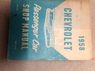 1958 CHEVY CHEVROLET PASSENGER CAR Service Shop Repair Manual FACTORY OEM 58