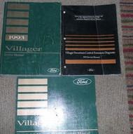 1993 FORD MERCURY VILLAGER VAN Service Shop Repair Manual Set W EWD & PCED OEM