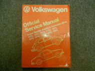 1970 1979 VW Super Beetle Beetle Karmann Ghia Official Service Manual NEW 79 x