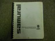1980s Suzuki Samurai Carburetion Emission Technical Training Seminar Manual 80s