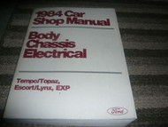 1984 Ford Escort Service Shop Repair Manual FACTORY OEM BODY CHASSIS ELECTRICAL