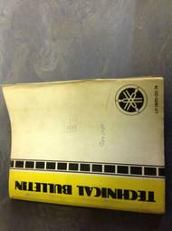 1974 YAMAHA TECHNICAL MOTORCYCLE Service BULLETINS Manual LIT 116700074 OEM RARE