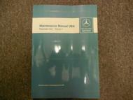 1972 1980 MERCEDES BENZ Maintenance Manual USA Passenger Cars Volume 1 OEM DEAL