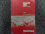 1987 Mazda 323 Wagon Service Repair Shop Manual FACTORY OEM GLOVE BOX EDITION