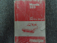 1987 Mazda 323 Service Repair Shop Manual FACTORY OEM GLOVE BOX EDITION BOOK 87
