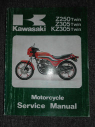1979-1989 Kawasaki Z250 Z305 KZ305 Twin Service Repair Shop Manual OEM FACTORY x
